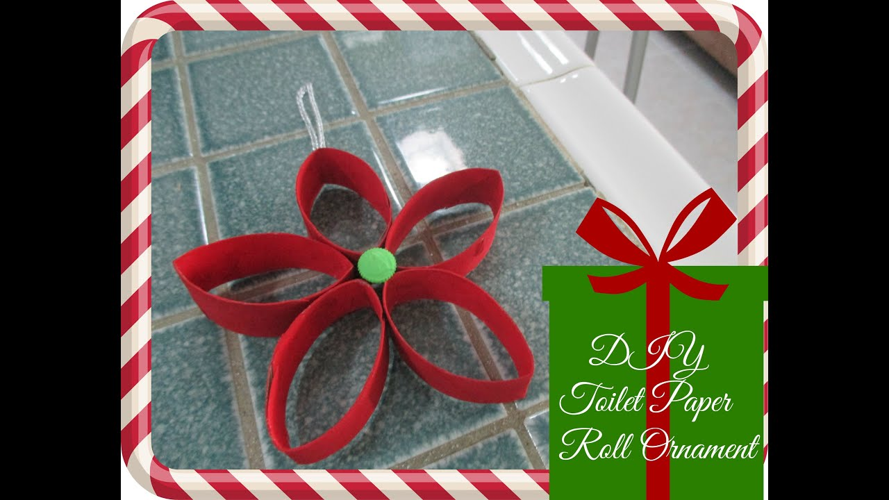DIY Christmas Decor (Recycled Toilet Paper Roll Ornament)   YouTube