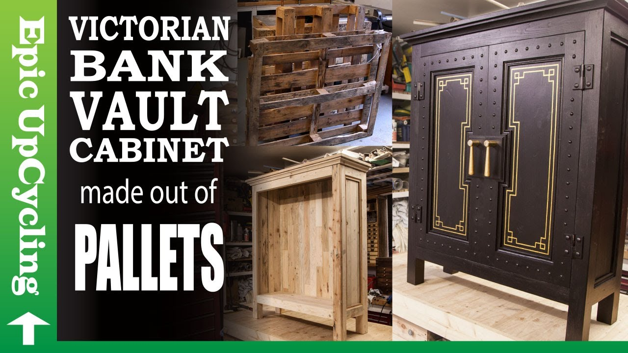 Victorian Bank Vault Cabinet made out of Pallets and Scrap Wood