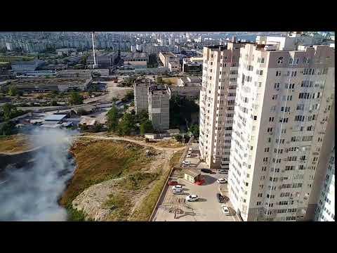 Пожар на проспекте Дзержинского в Новороссийске
