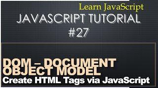 Document Object Model (DOM) - Learn JavaScript