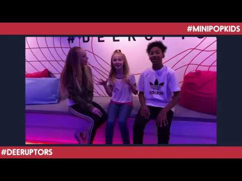 Mini Pop Kids at the Adidas Deerupt Launch Party