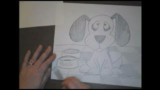 Zeichnen Sie ein Cartoon-Hund