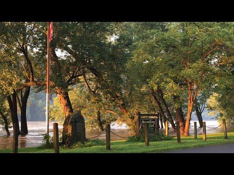 Susquehanna River Flooding - Bloomsburg, PA:  Town Park 8/15/18 AM