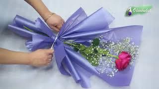Как Красиво Упаковать одну Розу Оригинально упаковать 1 розу в пленку Современная Флористика