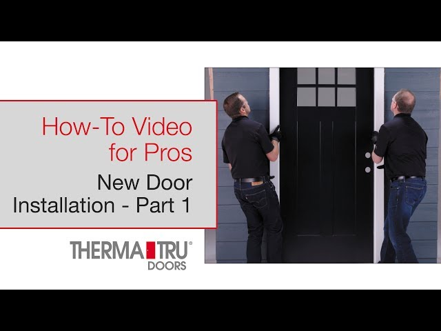 How-To for Pros: New Door Installation Part 1