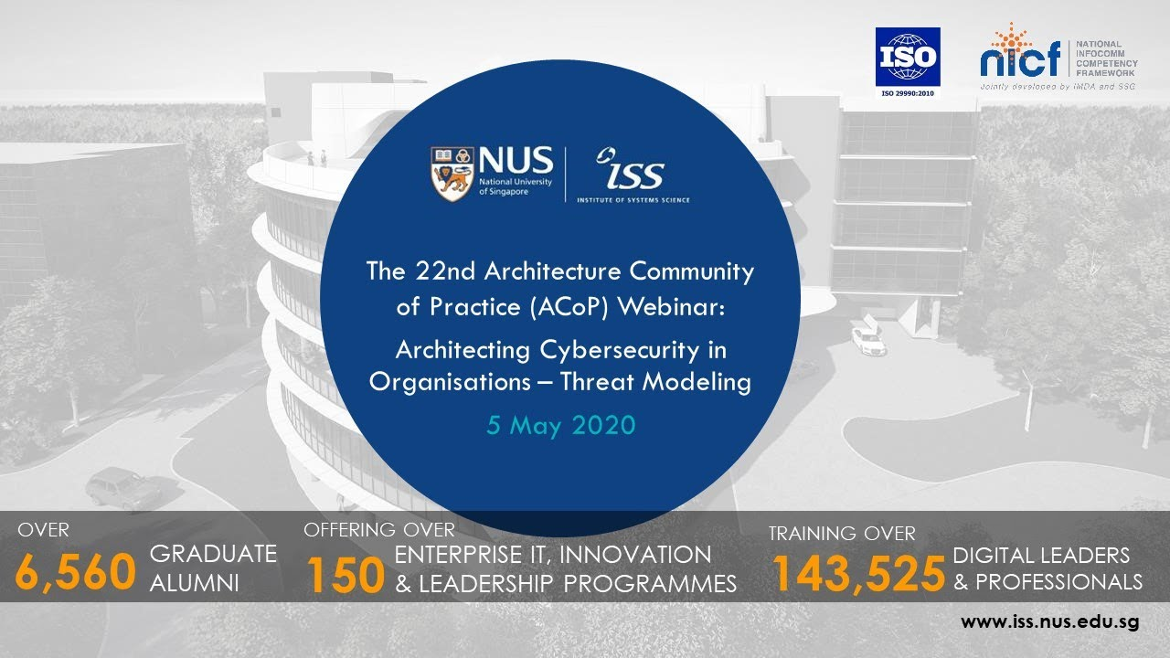 The 22nd Architecture Community of Practice (ACoP) Webinar