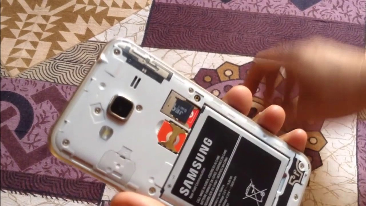 Samsung J3 2016 - How To Insert Two Sim Card And Sd Card