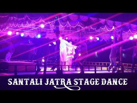 Santali Jatra Stage Dance ||  Dhukur Pukur Mone || Santali Akhda