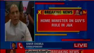 Rajnath Singh speaks on J&K issue, says sole motive is to remove terror from valley