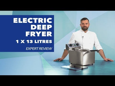 Electric Deep Fryer 1 x 10 litres with timer function