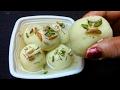सूजी के सपंजी रसगुल्ले बनाने की विधि Suji Rasgulla Sooji Rasogulla Bengali Sweet Rasgulla .