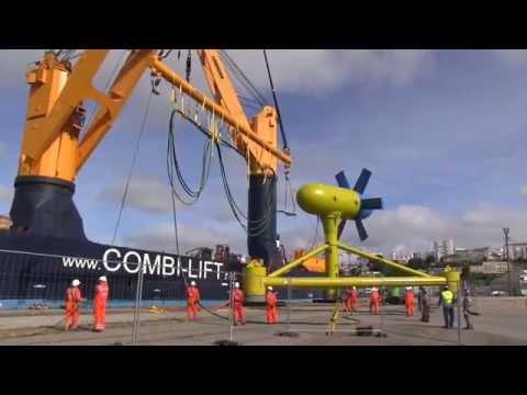 Installing the SABELLA D10 Tidal turbine