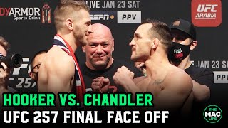 Dan Hooker vs. Michael Chandler Final Face Off | UFC 257 Ceremonial Weigh-Ins