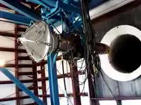 Learjet CJ610 Turbojet Engine In Test Cell