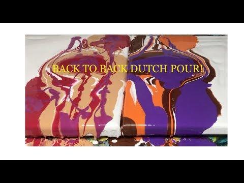 3 colors- Acrylic Dutch Pour paint technique- Fluid Art Abstract!
