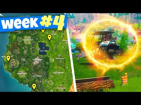 FLAMING HOOP JUMP LOCATIONS - Fortnite WEEK 4 Challenges Guide