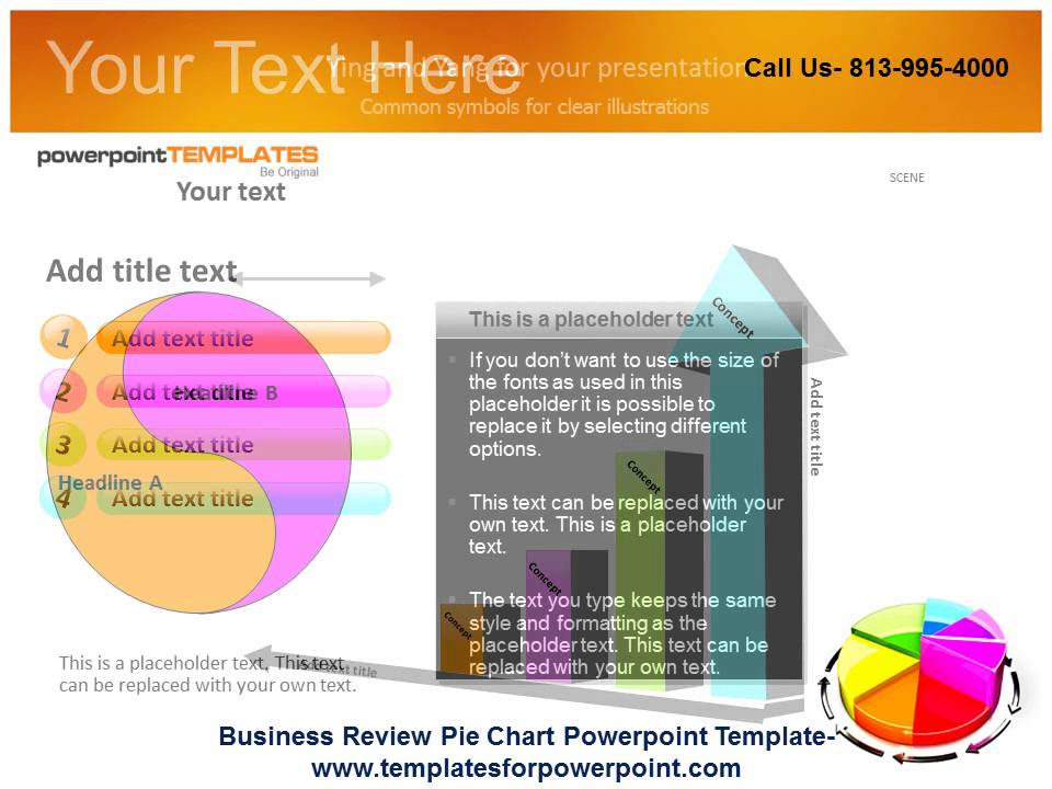 Business Review Pie Chart Powerpoint Template  Youtube