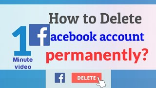 How to delete (fb)Facebook account permanently (2019)