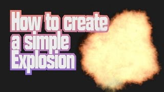 How To Create A Simple Explosion - Blender tutorial