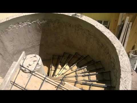 Escalera de caracol de concreto youtube for Como hacer una escalera en concreto