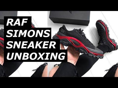 raf simons new runner black