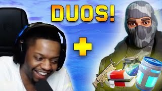King Richard Finds King Richards Loot in RANDOM DUOS!! | Fortnite Highlights & Funny Moments #89