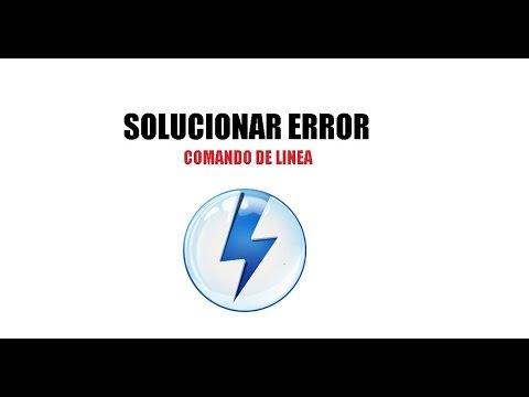 Resolver error Daemon Tools | Error en Linea de Comandos