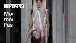 Models wearing other models at Paris fashion week