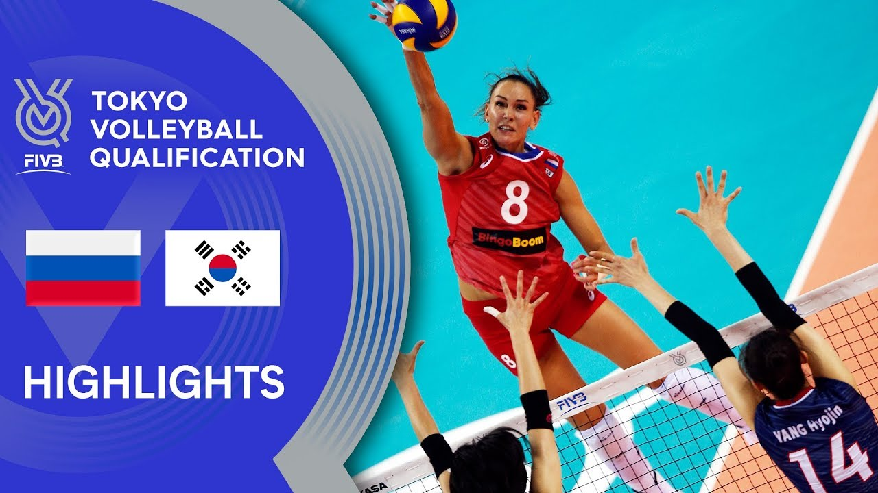 RUSSIA vs. KOREA - Highlights Women | Volleyball Olympic Qualification 2019