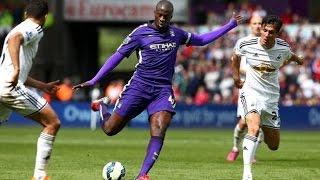 Yaya Toure vs Swansea (Away) 17/05/2015 HD