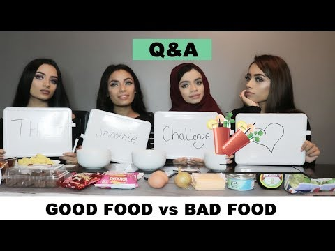 THE SMOOTHIE CHALLENGE | GOOD FOOD VS BAD FOOD | Q&A | FUNNY EDITION