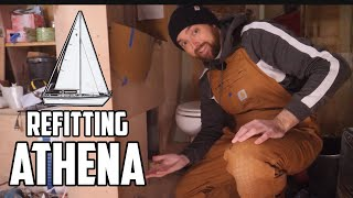 Sail Life - Athena's new head & boat goodies - DIY sailboat project