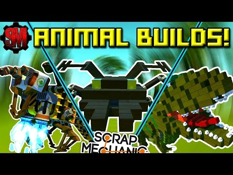 AMAZING ANIMAL CREATIONS! [Workshop Hunters 3] - Scrap Mechanic Multiplayer Ep31