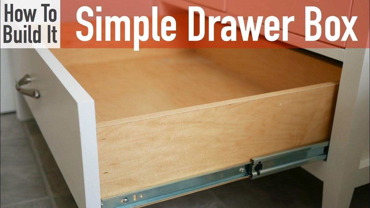 How to Build a Simple Drawer Box  YouTube