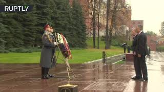 John Bolton and US ambassador Huntsman visit WWII memorial in Moscow