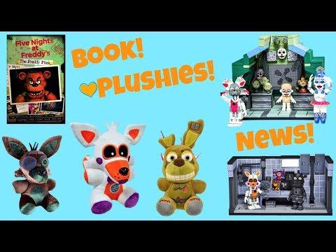 FNAF Book, Funko Plushies & News! Lolbit, The Freddy Files, McFarlane Toys, Five Nights at Freddy's