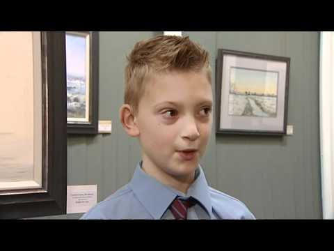 CHILD ART PRODIGY: He is just nine years old!