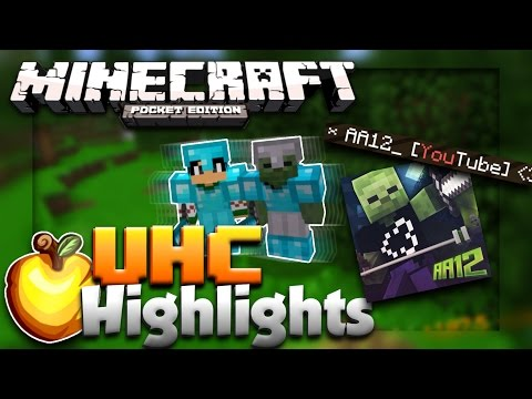 ✔️MOST INSANE UHC GAME IN EXISTENCE!!! // MCPE UHC w/ AA12 // Minecraft PE UHC Highlights [MCPE]