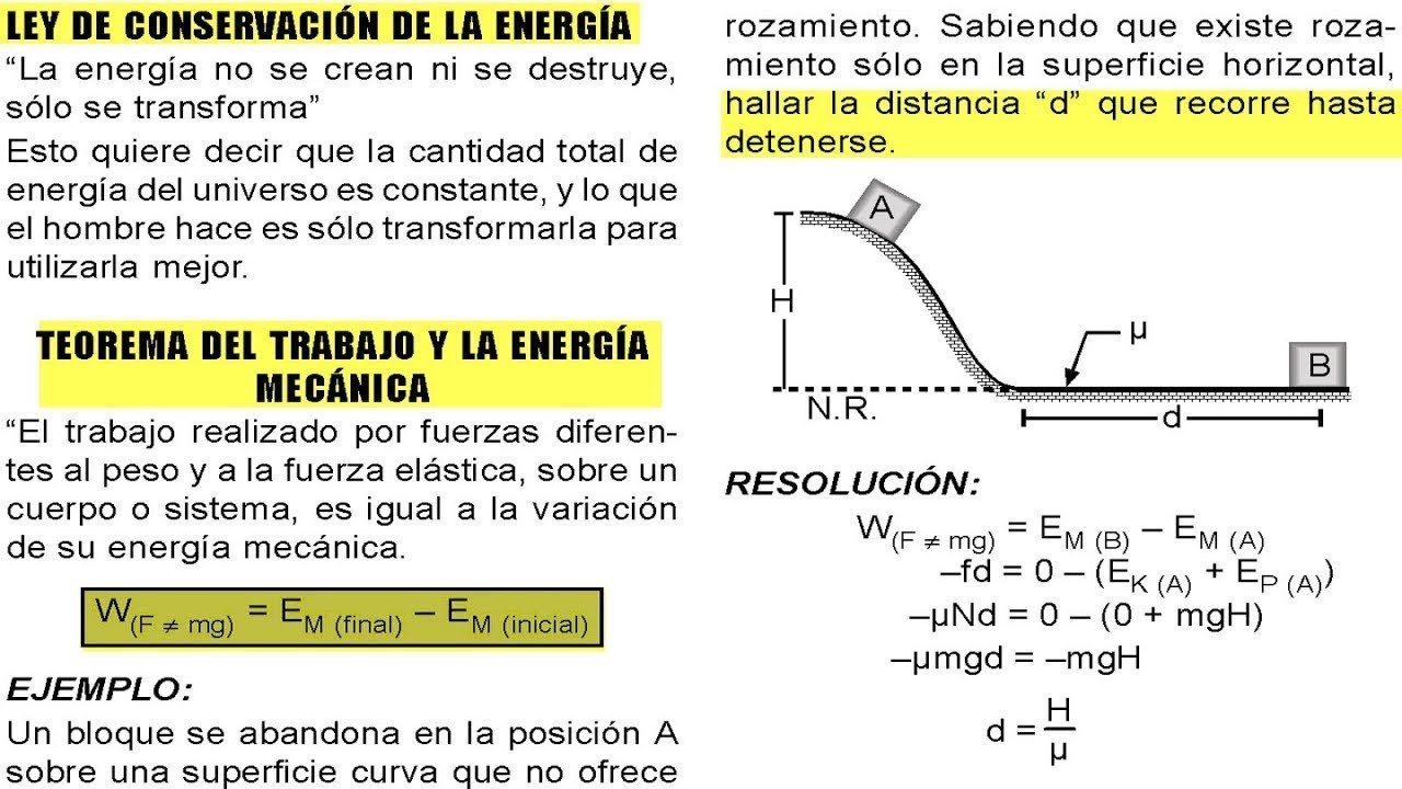 Energía Mecánica Potencial Cinética Fórmulas Explicaciones Básicas De Física Youtube