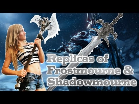 Unboxing (sortof) Frostmourne and Shadowmourne weapon replicas! - World of Warcraft