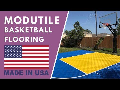 Outdoor Basketball Court Installation