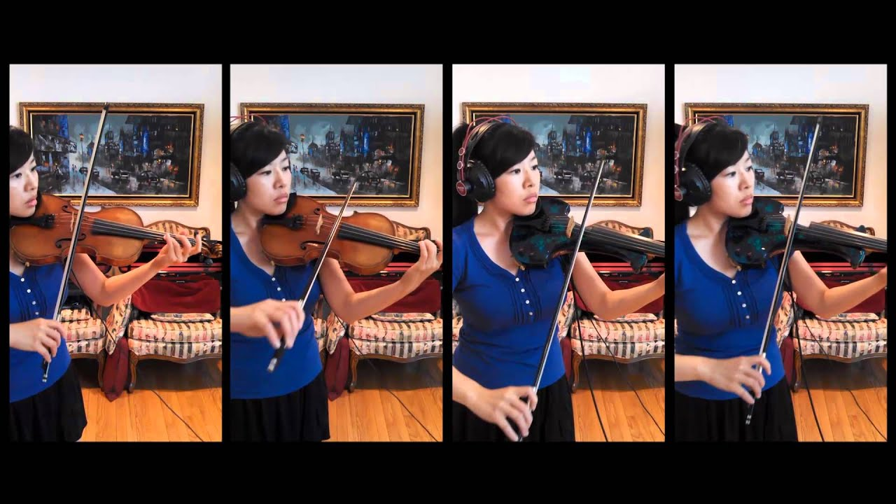 One Woman String Quartet - Chandelier by Sia Violin Cover - YouTube