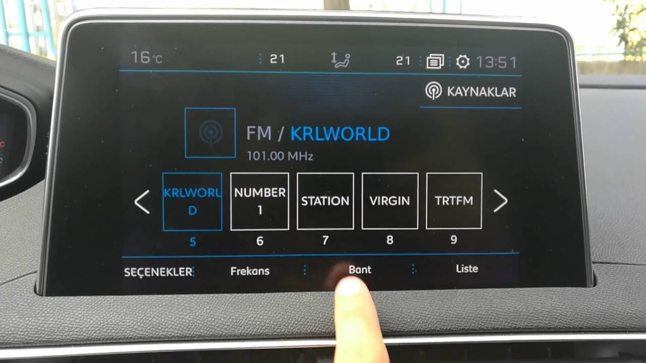 yeni peugeot 3008 dab (digital audio broadcasting) (dijital radyolar