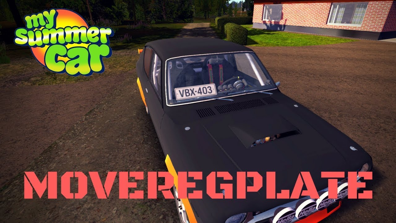 MoveRegNumbers - move license plate - My Summer Car #69 (Mod)