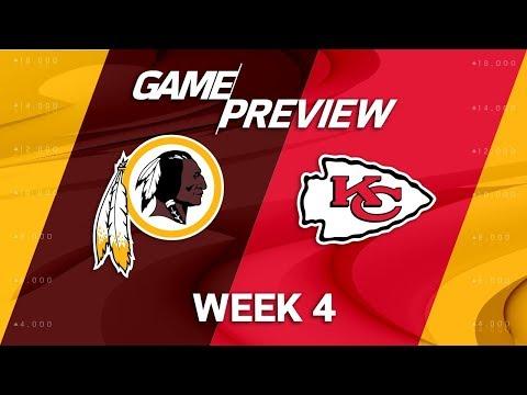 Washington Redskins vs. Kansas City Chiefs | Week 4 Game Preview | NFL Playbook