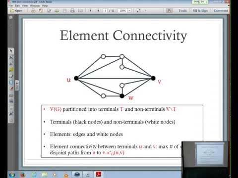 Chandra Chekuri: On element connectivity preserving graph simplification
