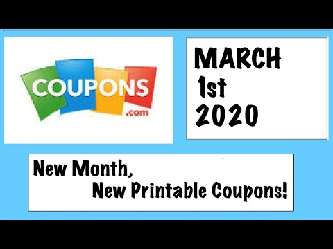NEW MONTH, NEW PRINTABLE COUPONS!!!– 3/1/20