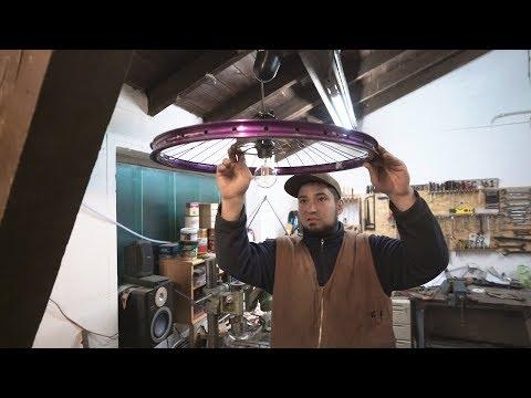 Richtig coole Fahrradlampe (Lampe aus Fahrradfelge) selber bauen - Bauanleitung