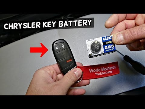 HOW TO REPLACE REPLACE KEY FOB BATTERY ON CHRYSLER 200 300