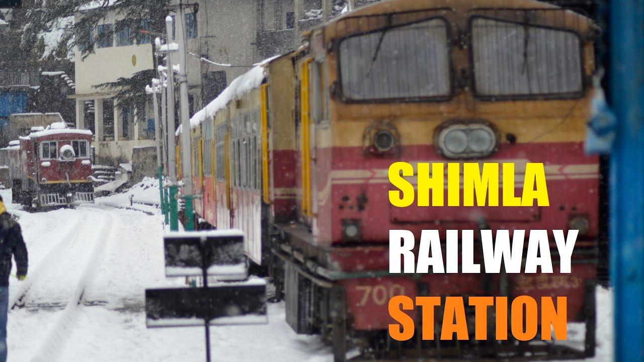 SHIMLA SNOWFALL RAILWAY STATION - HERITAGE TRAIN KALKA KOLKATA PUNE MUMBAI  CHENNAI DELHI